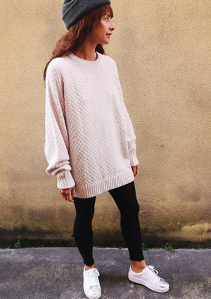 SWEATER OVERSIZE - KNIT PEARL ivory