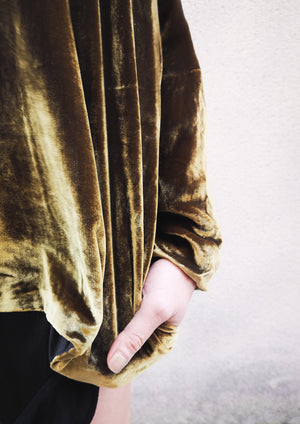 SWEATER POCKETS VELVET GOLD