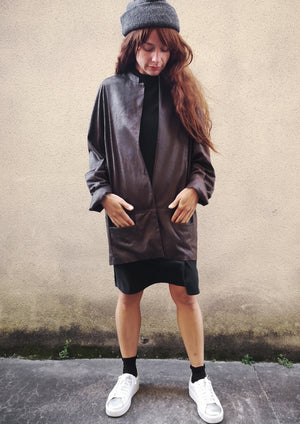 LIMITED EDITION - JACKET - FAUX LEATHER brown