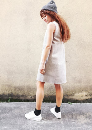 SHIRT/DRESS SLEEVELESS - DENIM light grey washed