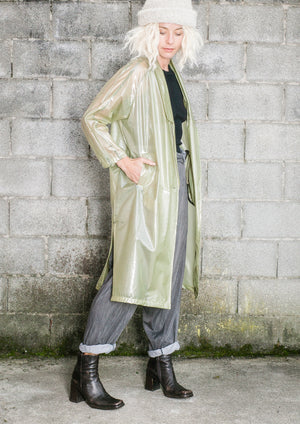 LIMITED EDITION - RAINCOAT REVERS LONG - transparent lime