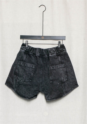 HIP SUMMER SHORTS - DENIM washed black