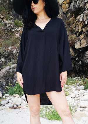 SHIRT/DRESS - black