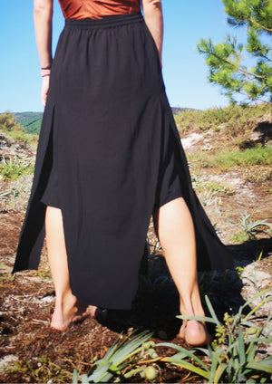 SKIRT LONG - black