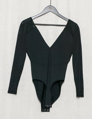 SAMPLE - BODYSUIT LONG SLEEVES - black