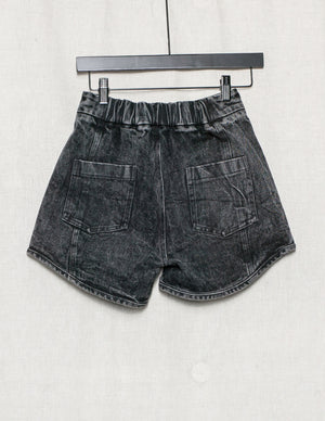 SAMPLE - SHORTS HIGH WAIST - DENIM washed black XXS