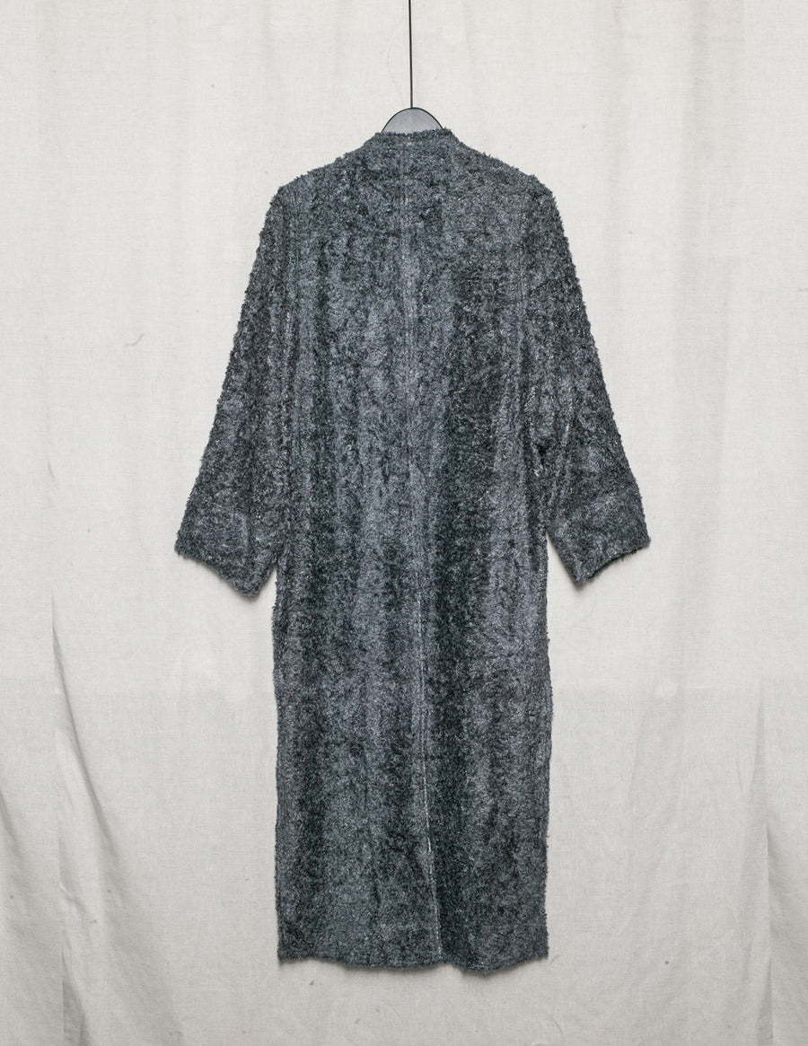 SAMPLE - CARDIGAN LONG - SHAGGY grey
