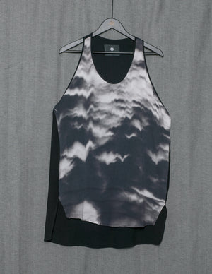 SAMPLE - TANK TOP OVERSIZE - VISCOSE  print cloud