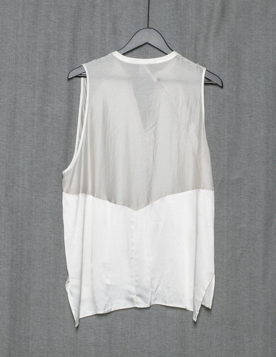 SAMPLE - TOP PATCHWORK - RAYON white