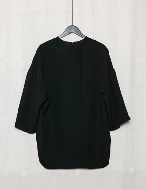 SAMPLE - SHIRT OVERSIZE WITH POCKET AND BACK ZIP - TRIACETATE MESH black