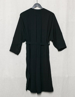 SAMPLE - CARDIGAN WITH BELT - triacetate black
