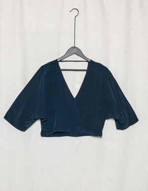 SAMPLE - TOP DRAPING - SILK blue