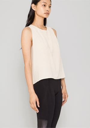 TOP SHORT SLEEVELESS - creme