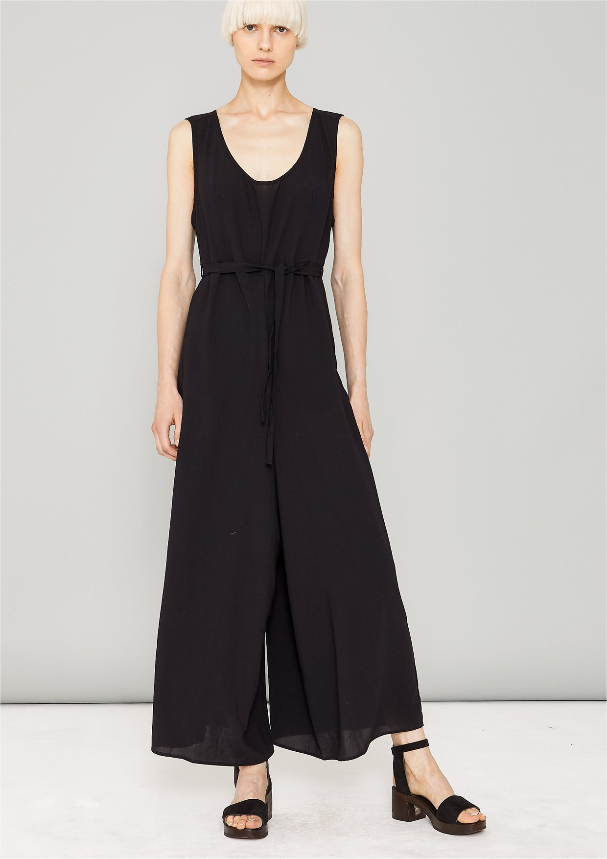 77c5fb4372 JUMPSUIT WIDE - black plain