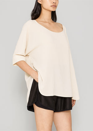 TOP OVERSIZED - CREME