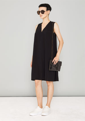 SHIRT/DRESS SLEEVELESS - black plain - BERENIK