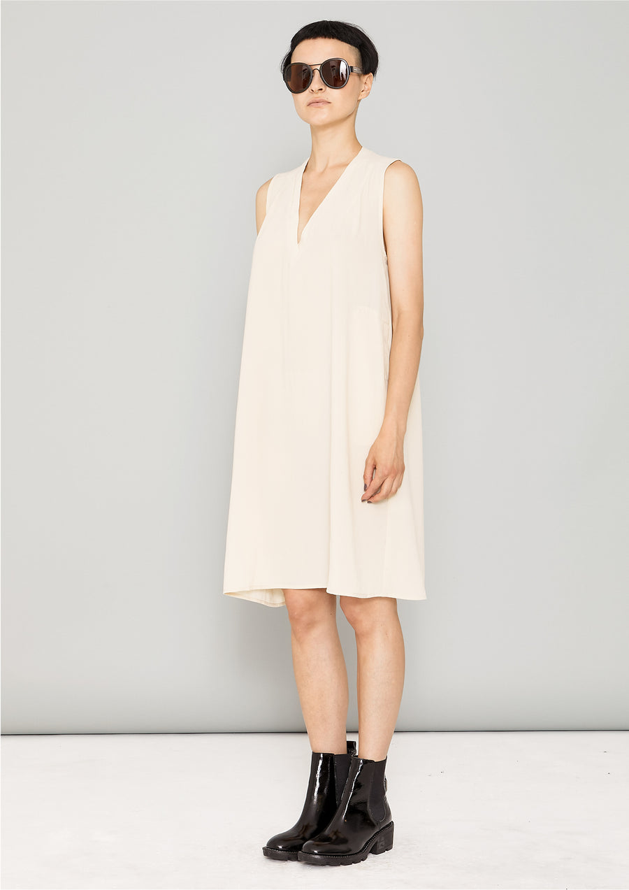 SHIRT/DRESS SLEEVELESS - creme