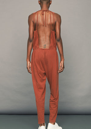 JUMPSUIT LONG - COTTON rust
