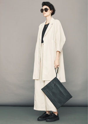 SUMMER COAT - LINEN natural white