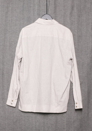 LIGHT SUMMER JACKET - NATURAL LINEN whithe