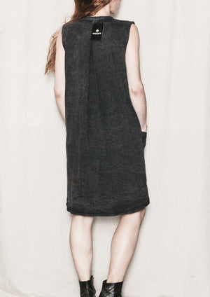CASUAL DRESS - DENIM WASHED black