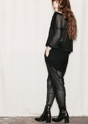 SHIRT - AIRY MESH black - BERENIK