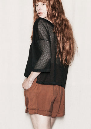 SHIRT - AIRY MESH black