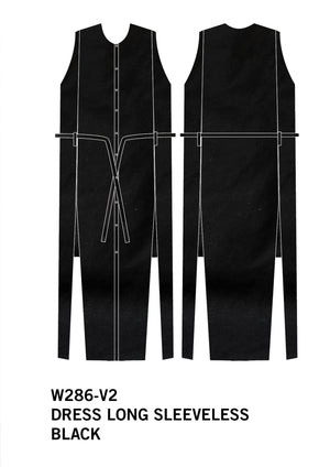 DRESS/VEST LONG SLEEVELESS - black