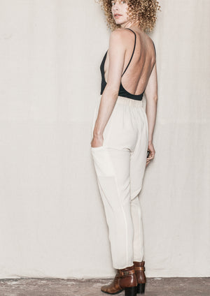SUMMER PANTS LOOSE - AIRY MESH cream