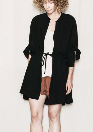 BLOUSE/DRESS/CARDIGAN - black plain