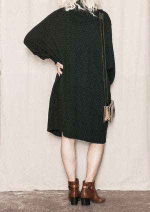 COZY CARDIGAN - KNIT PEARL black