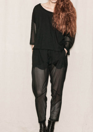 ADVANCED SWEATPANTS - AIRY MESH black