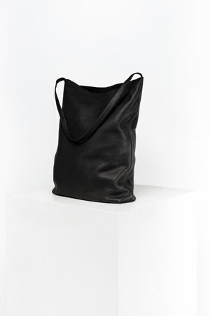 DISSELHOFF HOBO - ORGANIC COW LEATHER black