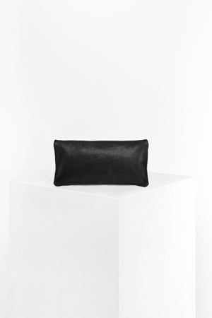 DISSELHOFF CLUTCH - ORGANIC COW LEATHER black