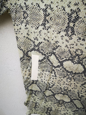 SAMPLE - SHIRT/DRESS - VISCOSE printed snake