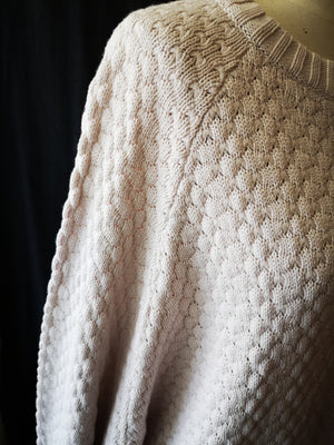 SAMPLE - KNIT SWEATER OVERSIZED - COTTON/WOOL ivory