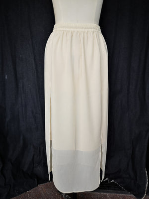 SAMPLE - SKIRT WITH SIDE SLOTS - MESH ivory