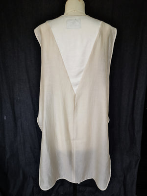 SAMPLE - TOP SLEEVELESS - PATCHWORK white/ivory