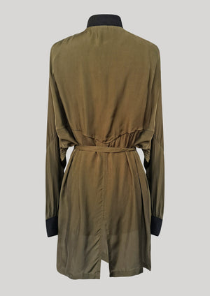 JACKET/DRESS - SILKY CUPRO khaki