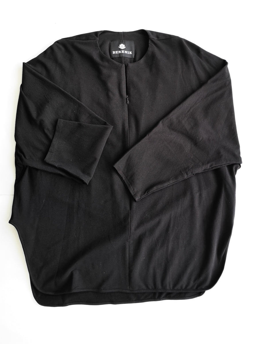 SAMPLE - SHIRT ZIP - COTTON JERSEY black
