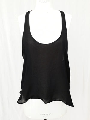 SAMPLE - TANKTOP SMALL - VINTAGE GEORGETTE black