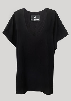 TOP SHORT SLEEVES WIDE - black matt