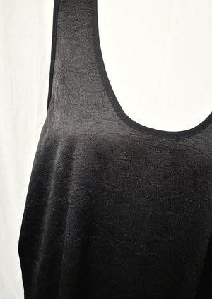 TANK TOP OVERSIZED - black shiny