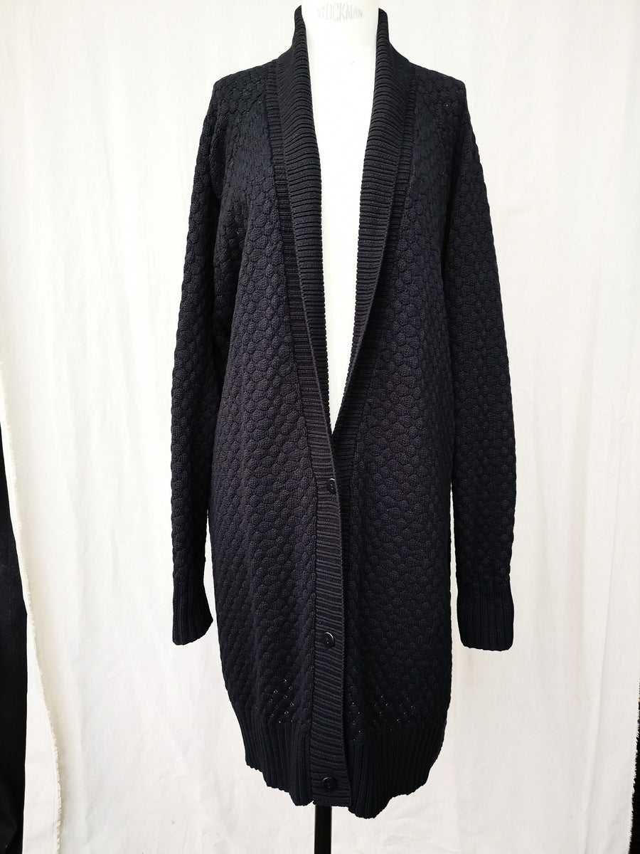 SAMPLE - CARDIGAN KNIT - PEARL black