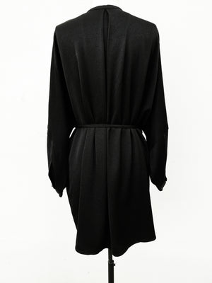 SAMPLE - BLOUSE/DRESS/CARDIGAN WITH BELT - heavy draping black