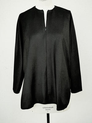 SAMPLE - SHIRT WITH ZIP LONG SLEEVES - techlaces black