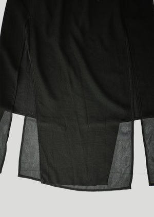 SKIRT - AIRY MESH black