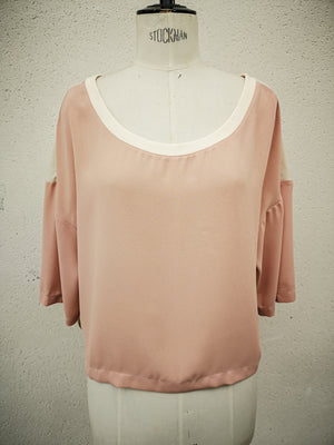 SAMPLE - T-SHIRT WIDE SLEEVES - peach