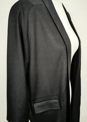 CARDIGAN LONG - TECHLACES black shiny