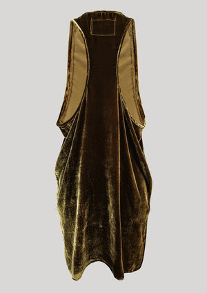 TANK TOP OVERSIZED - SILK VELVET gold